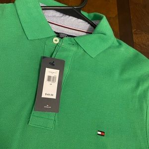 Green Tommy Hilfiger Polo